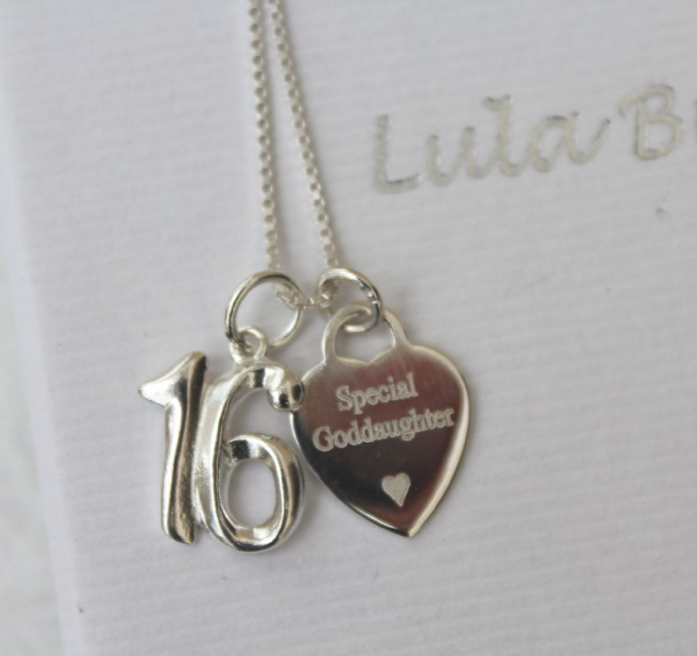 16th birthday gift  for a Goddaughter - FREE ENGRAVING
